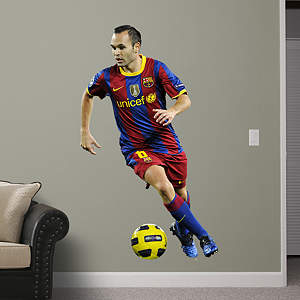 Andrés Iniesta Fathead Wall Decal