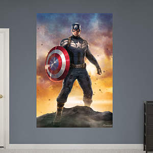 Captain America: Winter Solider Movie Poster Mural Fathead Wall Decal