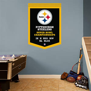 Pittsburgh Steelers Super Bowl Champions Banner Fathead Wall Decal