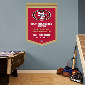 San Francisco 49ers Super Bowl Champions Banner Fathead Wall Decal