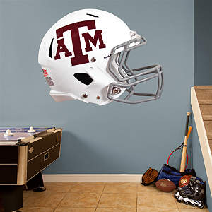 Texas A&M Aggies White Helmet Fathead Wall Decal