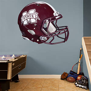 Vinyl Wall Decal of Mississippi State's Helmet