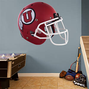 Utah Utes Red Helmet Fathead Wall Decal