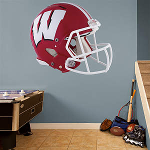 Wisconsin Badgers Red Helmet Fathead Wall Decal