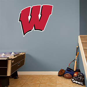 Wisconsin Badgers Logo Fathead Wall Decal