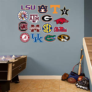 SEC Logo Collection Fathead Wall Decal