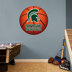 Michigan State Spartans Basketball Logo Fathead Wall Decal