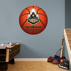 Purdue Boilermakers 2013 Basketball Logo Fathead Wall Decal