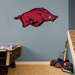 Arkansas Razorbacks Logo Fathead Wall Decal
