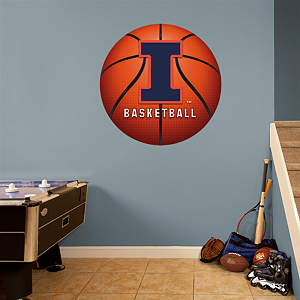 Illinois Fighting Illini Basketball Logo Fathead Wall Decal