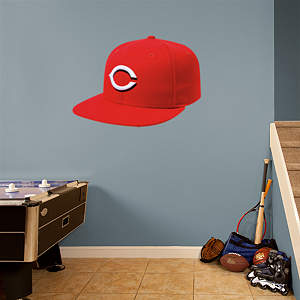 Cincinnati Reds Cap Fathead Wall Decal