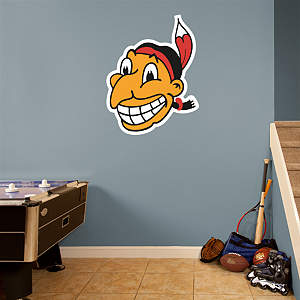 Cleveland Indians Classic Logo Fathead Wall Decal