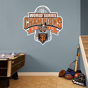 San Francisco Giants 2010 World Series Champions Official Club House Logo Fathead Wall Decal