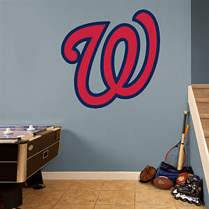 "Washington Nationals ""W"" Logo Fathead Wall Decal"