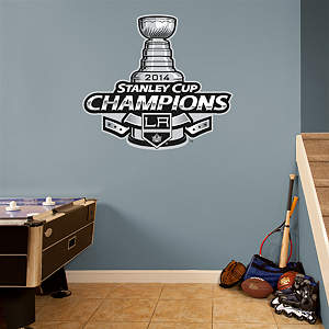 Los Angeles Kings 2014 Stanley Cup Champions Logo Fathead Wall Decal