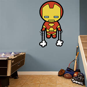 Kawaii Iron Man Fathead Wall Decal
