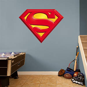 Superman Logo Fathead Wall Decal