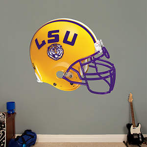 LSU Tigers Helmet Fathead Wall Decal