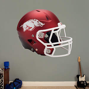 Arkansas Razorbacks Red Helmet Fathead Wall Decal