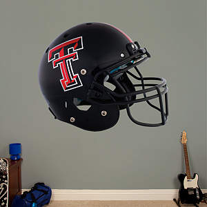 Texas Tech Red Raiders Black Helmet Fathead Wall Decal