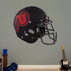 Utah Utes Black Helmet Fathead Wall Decal