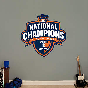 Auburn Tigers 2010 National Champions Logo Fathead Wall Decal