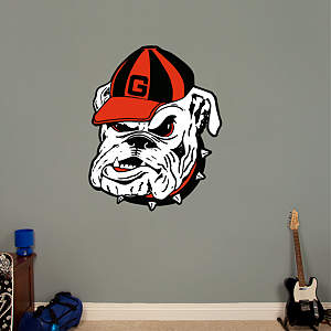 "Georgia Bulldogs ""Dawg"" Logo Fathead Wall Decal"
