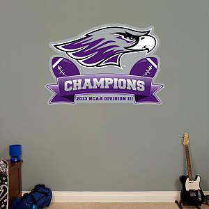 Wisconsin-Whitewater Warhawks 2013 DIII Football Champions Logo Fathead Wall Decal