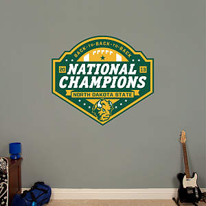 North Dakota State 2013 FCS Champions Logo Fathead Wall Decal