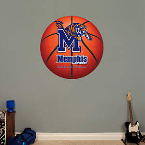 Memphis Tigers Basketball Logo Fathead Wall Decal