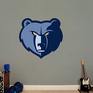 Memphis Grizzlies Logo Fathead Wall Decal
