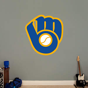 Milwaukee Brewers Classic Logo Fathead Wall Decal