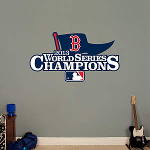Boston Red Sox - 2013 World Series Champions Logo Fathead Wall Decal