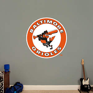 Baltimore Orioles Classic Logo Fathead Wall Decal