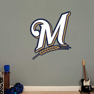 Milwaukee Brewers Alternate Logo Fathead Wall Decal
