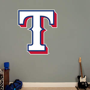 Texas Rangers Alternate Logo  Fathead Wall Decal