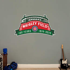 Wrigley Field 100th Anniversary Logo Fathead Wall Decal