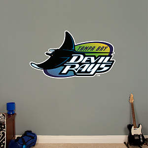 Tampa Bay Rays Classic Logo Fathead Wall Decal