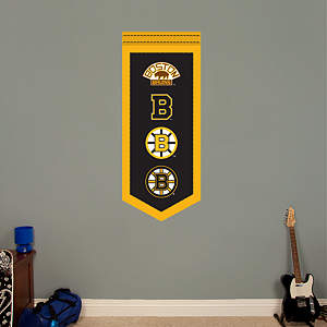 Boston Bruins Logo Evolution Banner Fathead Wall Decal