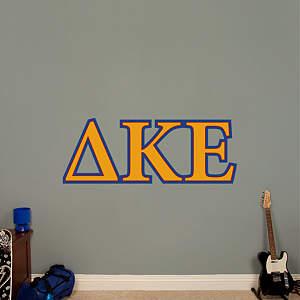 Delta Kappa Epsilon Letters Fathead Wall Decal