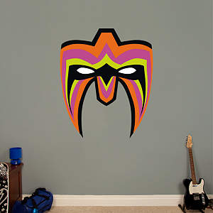Ultimate Warrior Mask Fathead Wall Decal