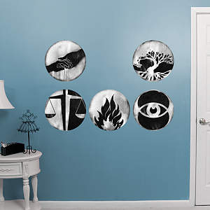 Divergent Faction Symbol Collection Fathead Wall Decal