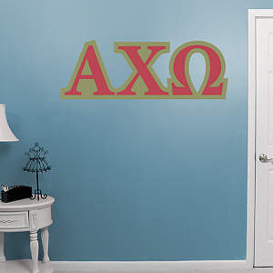 Alpha Chi Omega Letters Fathead Wall Decal