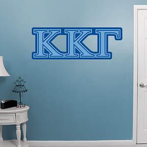 Kappa Kappa Gamma Letters Fathead Wall Decal