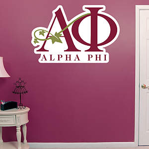 Alpha Phi Letters Fathead Wall Decal