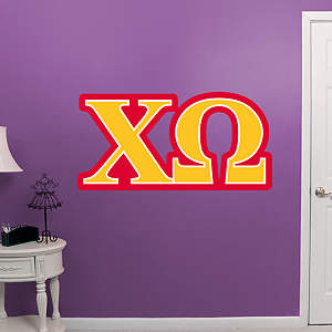 Chi Omega Letters Fathead Wall Decal