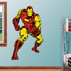 Classic Iron Man Fathead Wall Decal