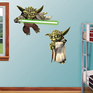 Yoda - Clone Wars Fathead Wall Decal