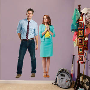 Will and Emma Fathead Wall Decal