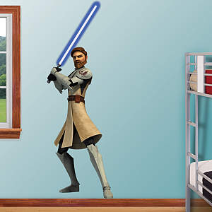 Obi-Wan Kenobi - Clone Wars Fathead Wall Decal